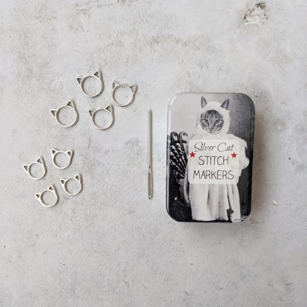 Cat stitch marker knitting kit