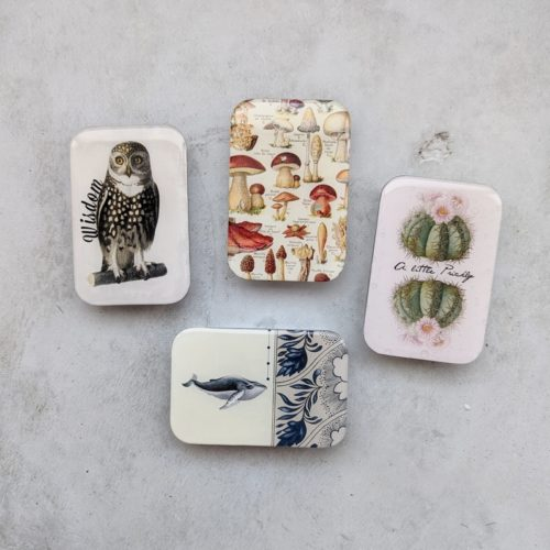 Firefly Notes resin tins in an assortment of patterns