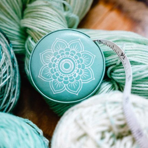 Knitters Pride Mindful Teal retractable tape measure